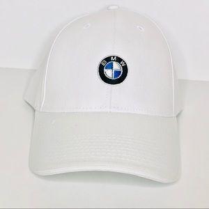 BMW Logo Emblem White Hat Adjustable  Embroidered